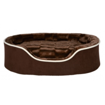 Foam Padded Soft Plush Bed - Brown