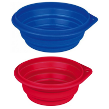 Travel Bowl Silicon 1000ml - Mixed colors Blue/Red