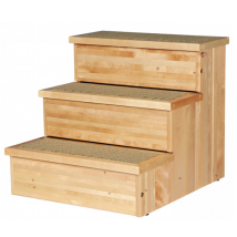 Pet Stair Pine Wood w Storage