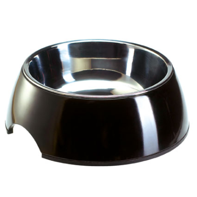 Round Bowl Stainless - Black