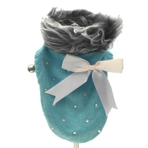 Pullover w Bow - Light blue