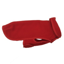 Double Layer Fleece Coat - Red