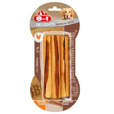 8in1 Delights Barbecue Sticks 3-pack