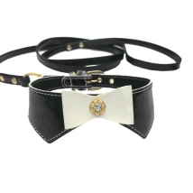 Set Collar & leash  - Black L:29-34cm Tot:37cm