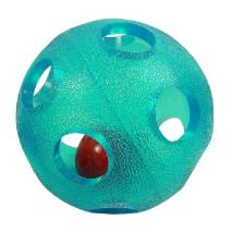 TPR soft rubber Ball w Bell inside 11cm - Blue