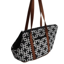 Memphis Open Bag - Black and White 41x21x30CM Widest Part:51cm