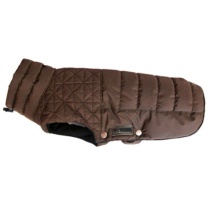 Linden Quilted Fleece Coat - Brown