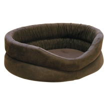 Galway Bed Soft Light Leather Look - Brown