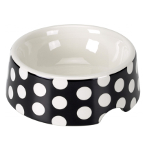 Porcelain Bowl  Dots - Black/White 0,5L 15x5,5cm