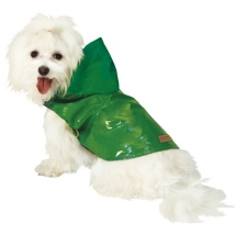 Shiny Raincoat w Cotton Dotted Lining - Green