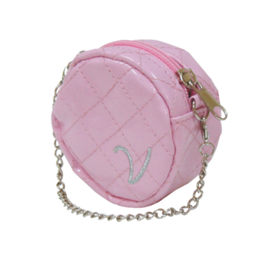 Poo Bag Holder Round w Chain - Pink