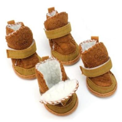 Short Boots w Fur - Camel