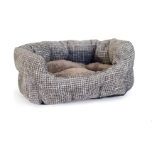 Dorset Checked Dog Bed - Cloudy