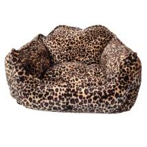Lush Velvet Bed - Leopard