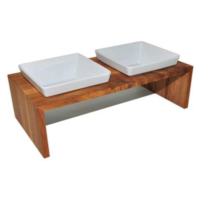 Maebashi Double Bowl Wooden Table - Teak