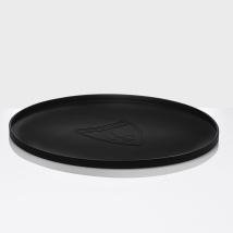 Round Soft Non-slip Placemat - Black Diameter:39,5cm