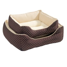 Light Dotted Cosy Bed - Brown/Beige
