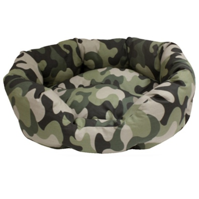 Oval Soft Bed - Camo