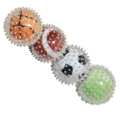 Soft Rubber ball w soft Ball Inside - Mixed Colors 9cm