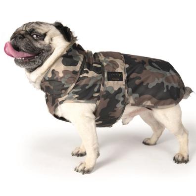 Light Pugs & More Raincoat - Camo