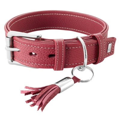 Montignac Leather Collar - Burgundy