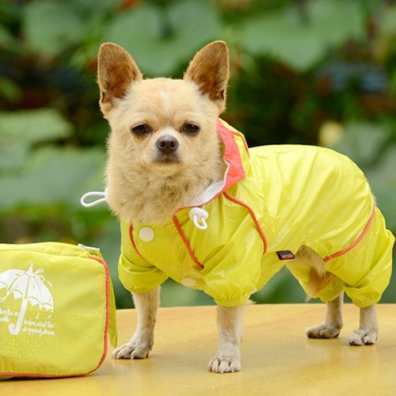 4-Legged Light Wind/Rain Suit w Pouch - Lime