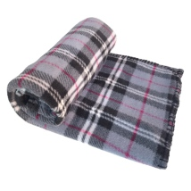 Blanket Checked Patern - Grey 100x70cm