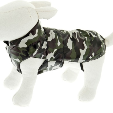 Rainproof Coat w Detachable Pile Lining - Camo