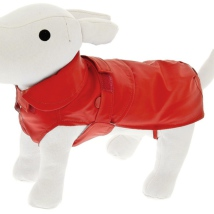 Rainproof Coat w Detachable Pile Lining - Red
