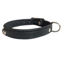 Leather Charm Collar - Black