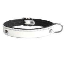 Leather Charm Collar - White