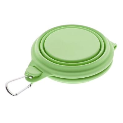 Silicon Double Travel Bowl - Green