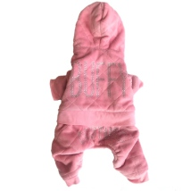 Buffy 4-legs Plush Rhinestone Suit - Baby Pink