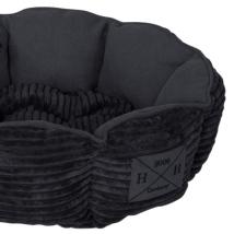 Corduroy Pet Bed - Black