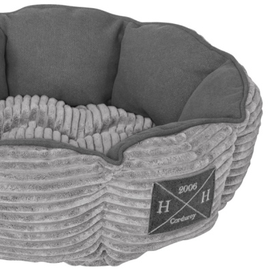 Corduroy Pet Bed - Grey