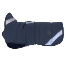 Lexie Padded Dog Coat - Navy Blue