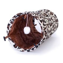 Round Cat Play Tunnel - Leopard