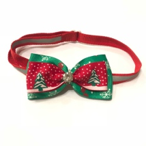 Christmas Bow with Relective Stripes Style 1 - Mixed Colors