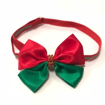 Christmas Bow with Relective Stripes Style 2 - Mixed Colors